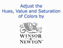 Adjust the hue, value and saturation video by Winsor Newton
