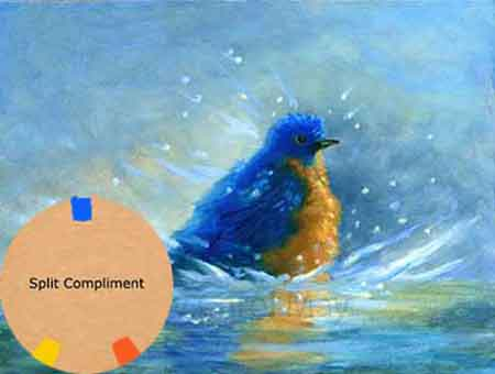 Split Complimentary painting colors, painting by artist Carol May