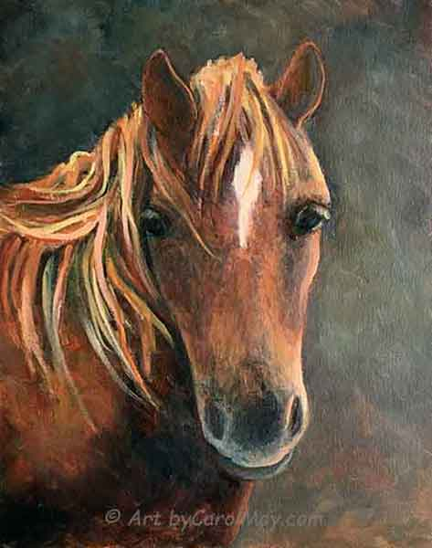 An oil painting by artist Carol May