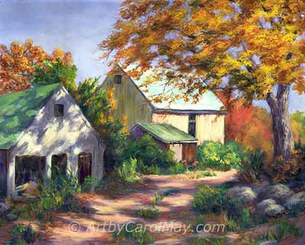 Country Barns oil painting