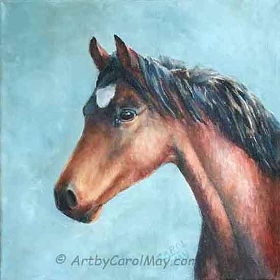 Faith an oil painting of a horse