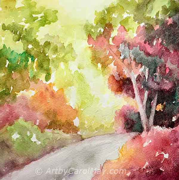 Fun Color a watercolor painting by artist Carol May