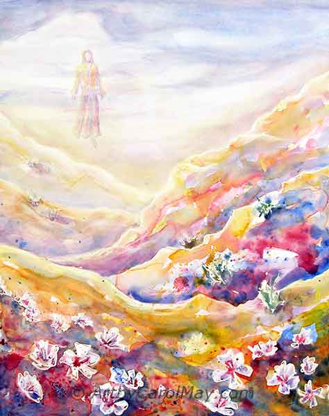 A prophetic watercolor painting by artist Carol May