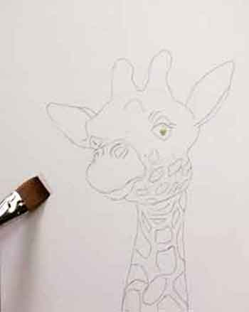 Paint A Giraffe With Watercolor