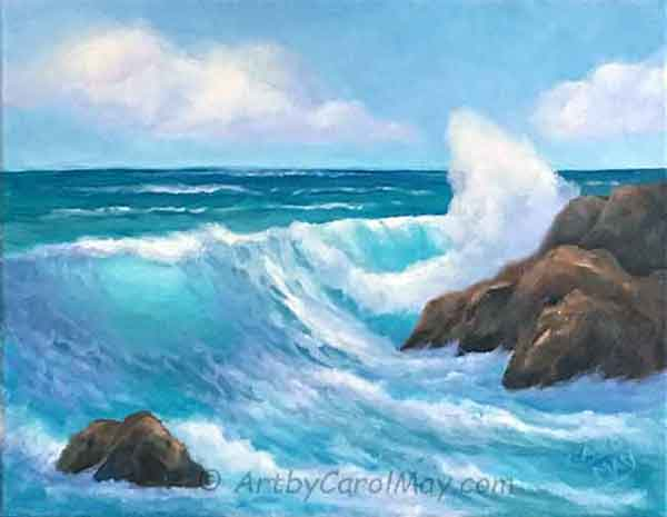 Learn how to paint ocean step-by-step