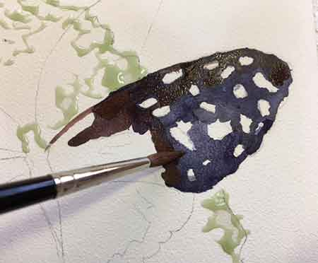 Preserving whites in watercolor painting