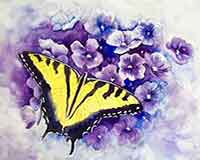 Paint a Butterfly with artist Carol May
