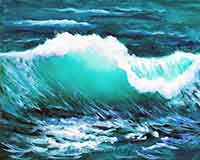 How to paint a wave in five easy steps with artist Carol May
