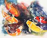 How to pour watercolors by Carol May