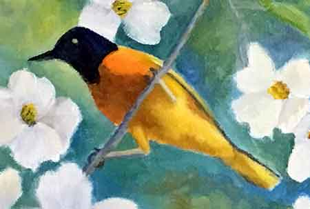 Finish painting the details of the Oriole.