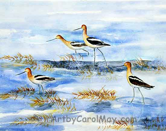 The art painting supplies for watercolor painting by artist Carol May