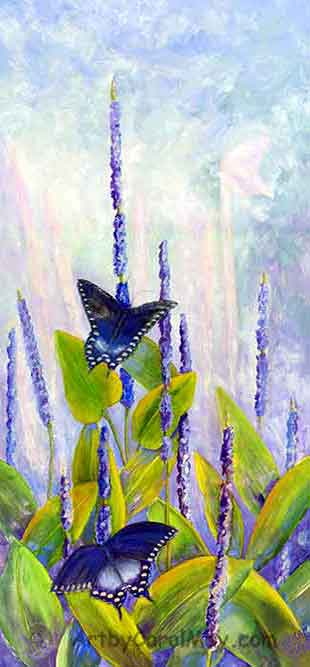 Spicebrush Swallowtail butterfly painting by Carol May