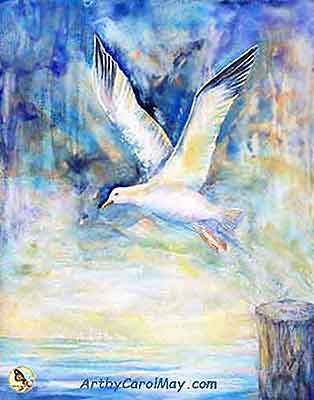 original-art-painting Flying Free