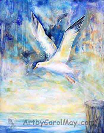 original-art-painting Flying Free