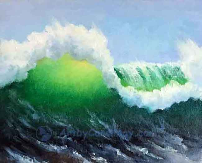 How to paint a wave in five easy steps with the painting artist Carol May