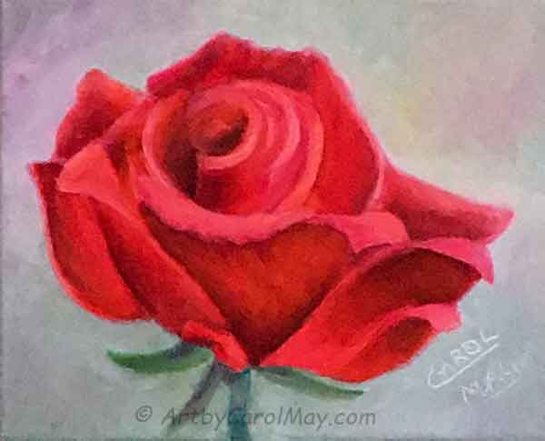 How to paint a rose with oil paints