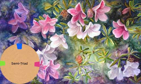 Using Semi Triad Colors To Paint Azaleas