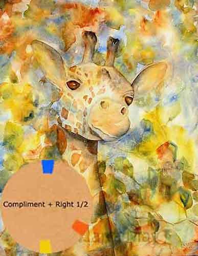 Giraffe painting by artist Carol May