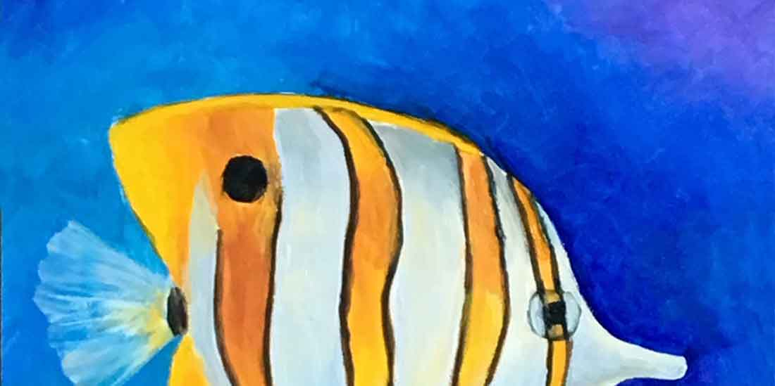 Banded Butterfly Fish in oils