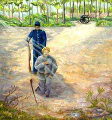 prophetic art painting of a vision of after the Battle of Olustee
