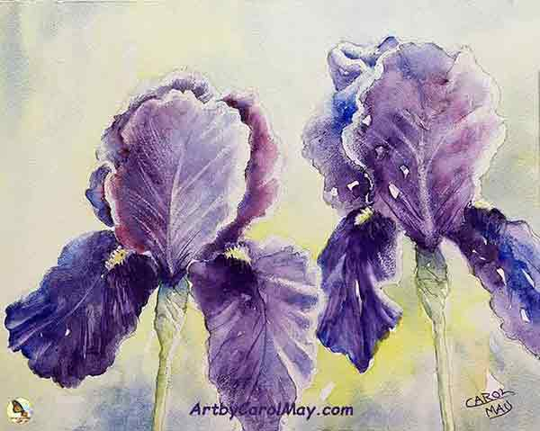 Painting watercolor flowers with artist Carol May