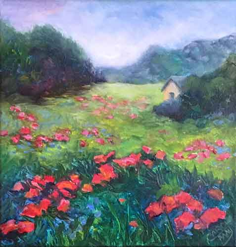 Hill Country an oil painting for sale by the painting artist Carol May