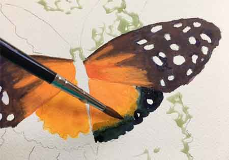 Painting butterflies with Carol May