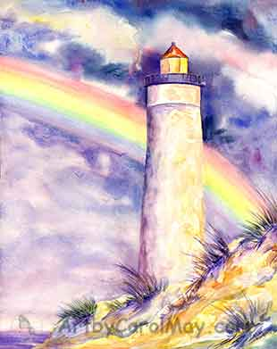 God's Promise watercolor by artist Carol May
