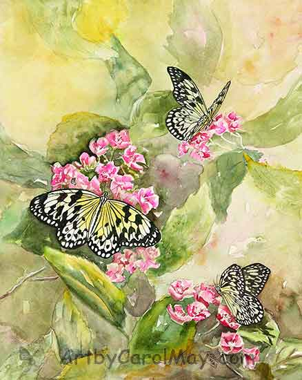 Large Tree Nymphs painting by Carol May