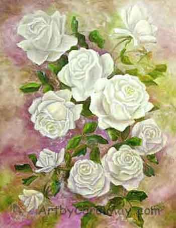 ten white roses prophetically declaring