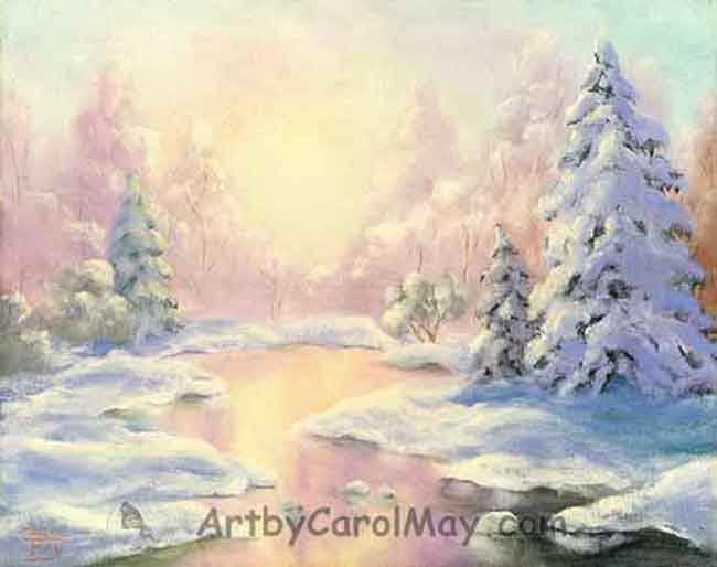 Winter Wonderland an oil painting by Carol May