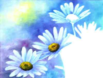Paint the background darker around the focal daisy